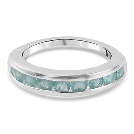Grandidierite Half Eternity Band Ring in Sterling Silver 1.210 Ct.