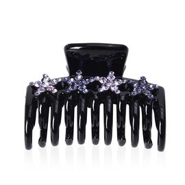 Crystal Studded Hair Claw Clip - Light and Dark Violet