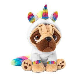 Keel Toys Pugsley Rainbow Unicorn (Size 20 Cm) - White