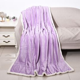 Warm & Soft Double Layer Sherpa Blanket (150x200 cm) OEKO-TEX Certified - Lavender