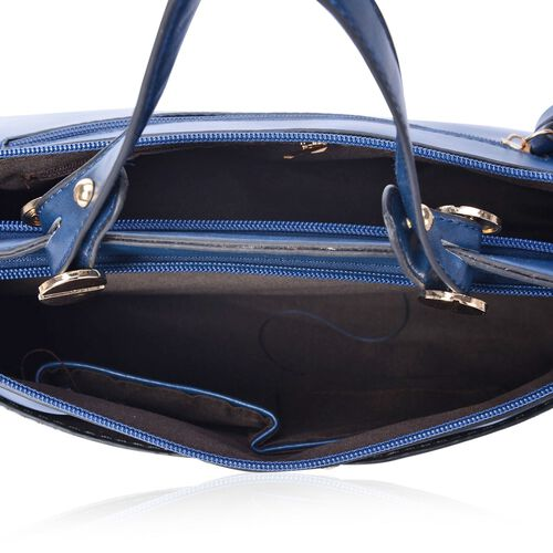 Retro Style Satchel with External Pocket and Adjustable and Removable Shoulder Strap (Size 32x23x8 Cm)