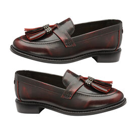 Ravel Bordo Levin Patent Leather Low Heel Loafers Size 3