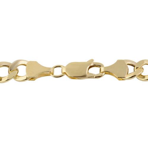 Vicenza  Collection- 9K Y Gold Curb Necklace (Size 20), Gold wt 12.86 Gms.