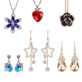 6 Piece Set- Jewellery Set (Including 3 Necklace, 3 Earrings)