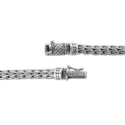 Royal Bali Collection Sterling Silver Tulang Naga Bracelet (Size 8), Silver wt 35.83 Gms