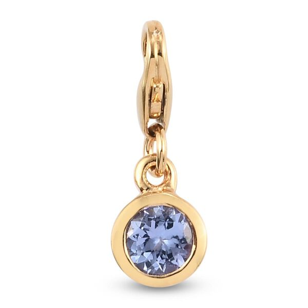 AA Tanzanite (Rnd) Charm in 14K Gold Overlay Sterling Silver 0.50 Ct.