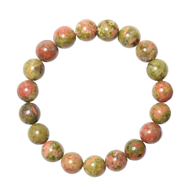 Unakite Beads Stretchable Bracelet (Size 6.5) 156.50 Ct.