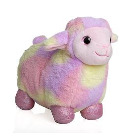 Keel Toys - Standing Rainbow Sheep (Size 20 Cm) - Pink Rainbow