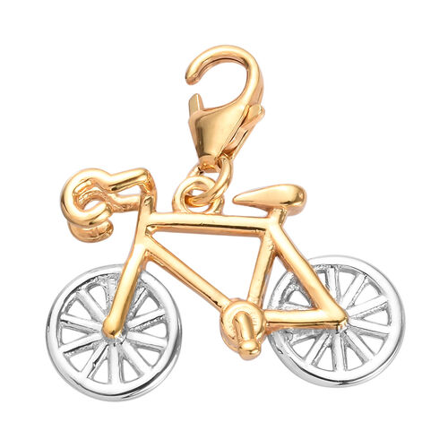 Charmes De Memoire - Platinum and Yellow Gold Overlay Sterling Silver Bicycle Charm