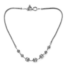 Royal Bali Bead Tulang Naga Necklace in Sterling Silver 23 Grams 17 Inch