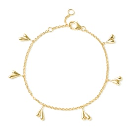 LucyQ Tears Collection Yellow Gold Overlay Sterling Silver Bracelet ( Size 7/7.5/8)