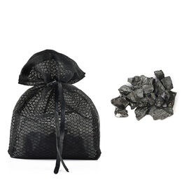 Elite Shungite Stone in Net Pouch (Size 15x20 Cm) - Black