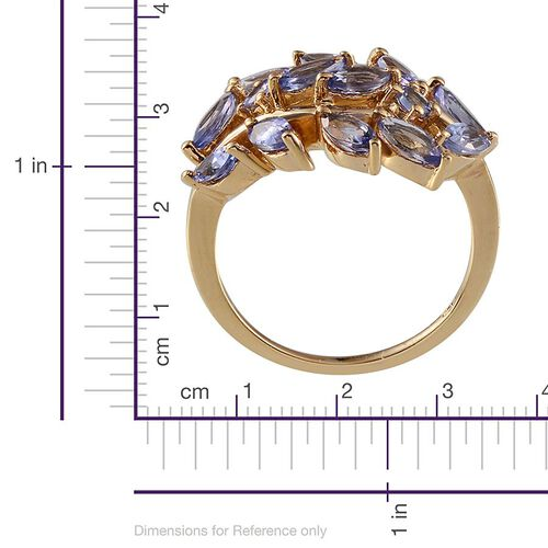 Tanzanite (Mrq) Ring in 14K Gold Overlay Sterling Silver 2.650 Ct.