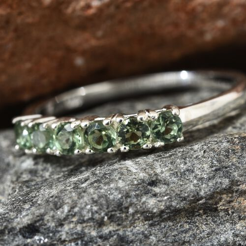 One Time Deal-Ocean Green Madagascar Apatite (Rnd) Ring in Sterling Silver