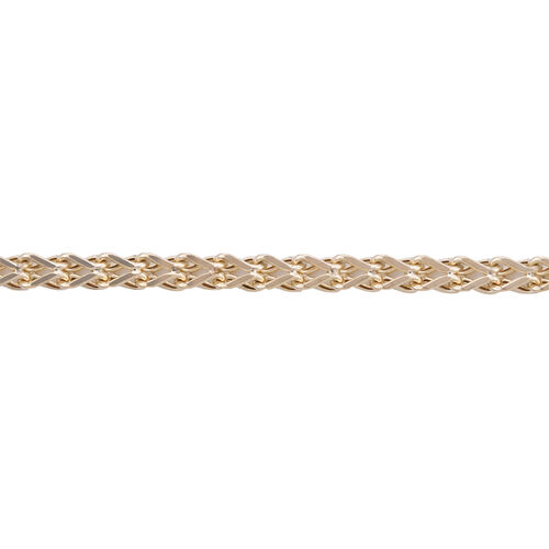9K Yellow Gold Spiga Necklace (Size 20) with Lobster Lock, Gold wt 8.05 Gms