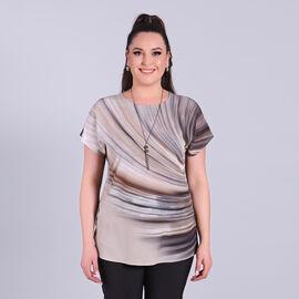 Jovie Comfortable Low Sleeve Top in Khaki
