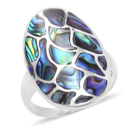 Royal Bali Collection - Abalone Shell Ring in Sterling Silver