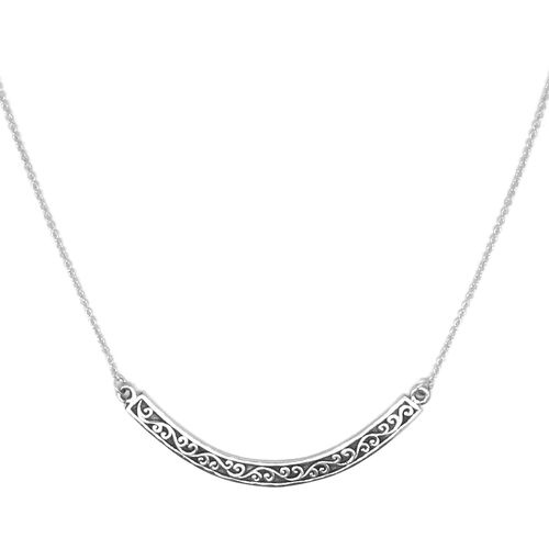 Royal Bali Collection Sterling Silver Filigree Necklace (Size 20), Silver wt. 4.00 Gms.