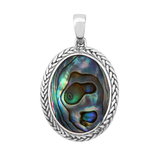 Royal Bali Collection Abalone Shell Pendant in Sterling Silver