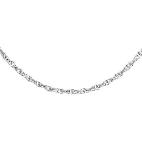 ILIANA 18K White Gold Prince of Wales Chain (Size 18)