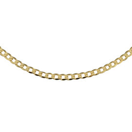Flat Curb Chain in 9K Yellow Gold 4.05 Grams 22 Inch