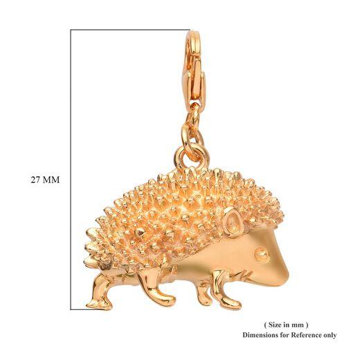 14K Gold Overlay Sterling Silver Hedgehog Charm, Silver wt 5.10 Gms.