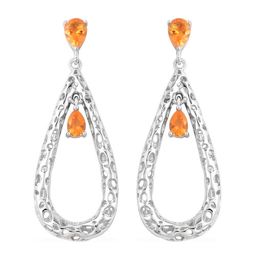 RACHEL GALLEY Misto Collection - Jalisco Fire Opal Latticework Dangle Earrings (with Push Back) in R