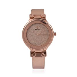 STRADA Japanese Movement Water Resistant Watch with Rose Gold Colour Strap
