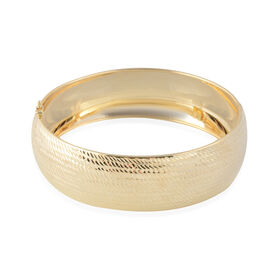 Heavy Weight Diamond Cut Wide Bangle in 9K Gold 12 Grams 7.5 Inch