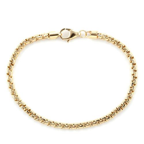 Royal Bali Collection 9K Yellow Gold Box Belcher Bracelet (Size 7.5)