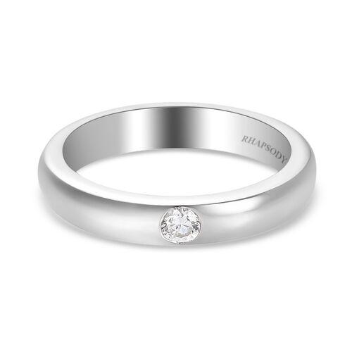 RHAPSODY Diamond Solitaire Band Ring in 950 Platinum 6.40 Grams IGI Certified VS EF