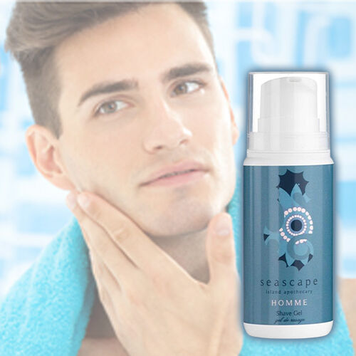 Seascape Island Apothecary: Homme (For Men) Shave Gel - 100ml
