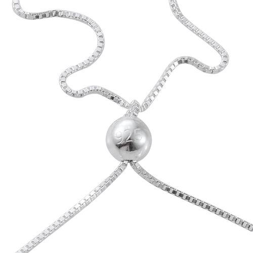Rhodolite Garnet (Rnd) Bolo Bracelet (Size 6.5 to 8) in Sterling Silver 2.250 Ct.