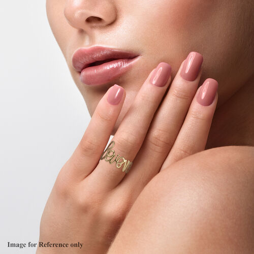 Vicenza Collection 9K Yellow Gold Believe Ring