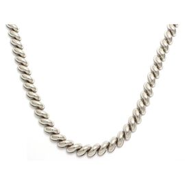 Viale Argento Rhodium Overlay Sterling Silver San Marco Necklace (Size 18)