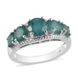 Grandidierite 5-Stone Ring in Platinum Overlay Sterling Silver 2.42 Ct.
