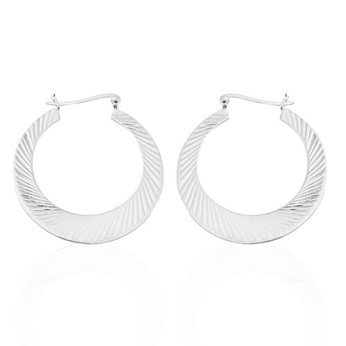 Sterling Silver Hoop Earrings (with Clasp Lock), Silver wt 7.50 Gms.