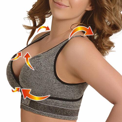SANKOM Patent Yoga Bra (Size S/M) Colour  Grey Melange