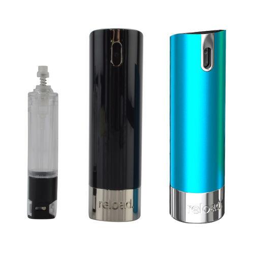 Reload Mini Perfume Spray - Black, Reload Refillable Refill & Mini Spray Skin Aluminium Blue