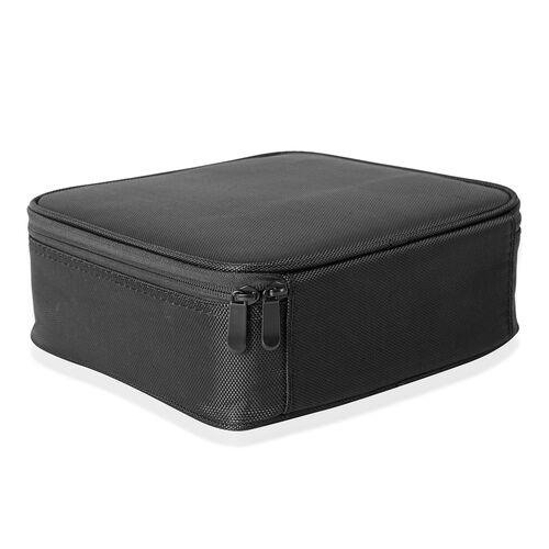 Black Colour Small Size Makeup Case (Size 25x22x9 Cm)