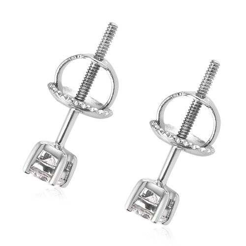 RHAPSODY 950 Platinum IGI Certified Diamond (Rnd) (VS/E-F) Stud Earrings (with Screw Back) 0.240 Ct.