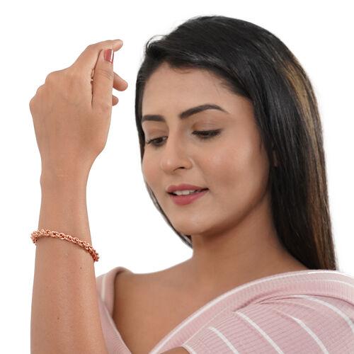 Shiny Chain Design Cuff Bracelet (Size 6.5)