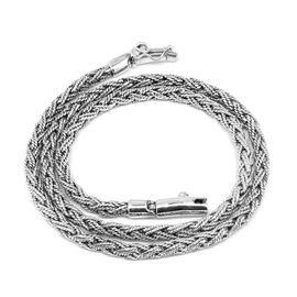 Royal Bali Collection Sterling Silver Wheat Necklace (Size 20), Silver wt. 46.59 Gms.