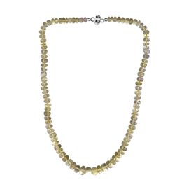 TJC Launch- Ouro Verde Quartz (Rnd) Necklace (Size 18) in Sterling Silver with Magnet Lock 200.00 Ct