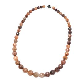 Extremely Rare 410 Ct Itinga Rutilated Quartz Beaded Necklace in Sterling Silver 20 Inch