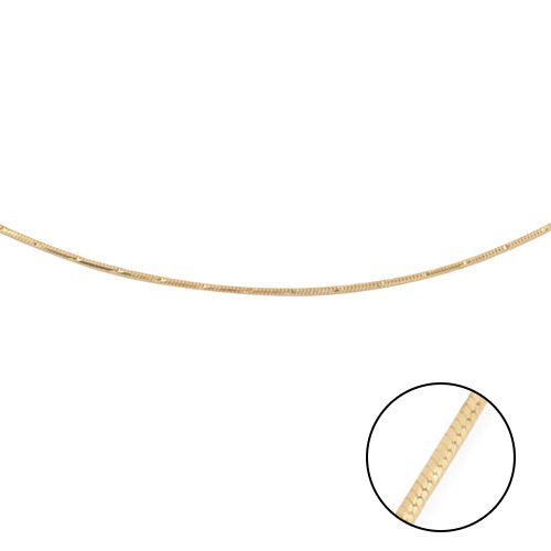 Made in Italy - 14K Gold Overlay Sterling Silver Diamond Cut Chain (Size 22)