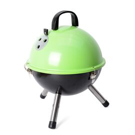 Portable Barbeque Grill (Size: D32xH42.5 Cm) - Green