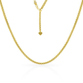 Adjustable Slider Coryana Chain in Gold Plated Sterling Silver 24 Inch