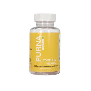 PURNA: Complete Beauty Multivitamin 30 Gummies for Adults & Kids - Mango