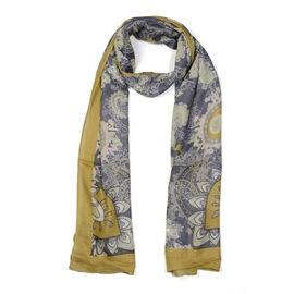 Jacquard Print Scarf (Size 180x50 Cm) - Mustard
